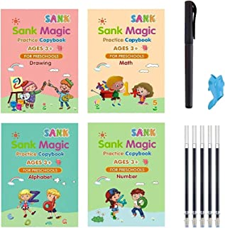 Reusable Magic Handwriting Copybook for kids Tracing Practice kit Preschool Calligraphy Book Set included Easy Grip Pen & ...