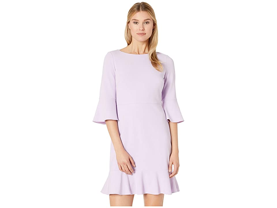Nine West Drapey Crepe Bell Sleeve Dress with Ruffle Skirt (Daphne) Women