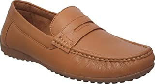 Medifeet Gents Leather Loafers/Leather Slip on Shoes MF L-1 Beige Colour