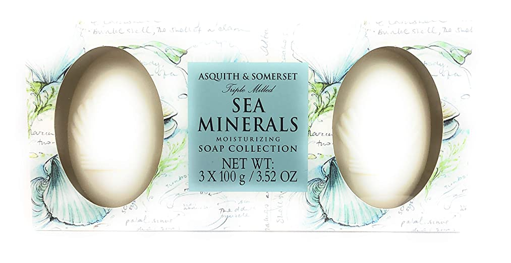 Asquith and Somerset Sea Minerals Moisturizing Soap Collection 3x100g