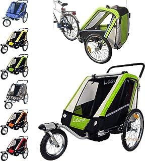 comprar comparacion PAPILIOSHOP LEON Remorque à vélo poussette chariot pour 1 ou 2 entants