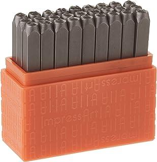ImpressArt Uppercase Basic Bridgette 3mm Metal Letter Stamp Set, Steel Alphabet Punches for Metal Stamping