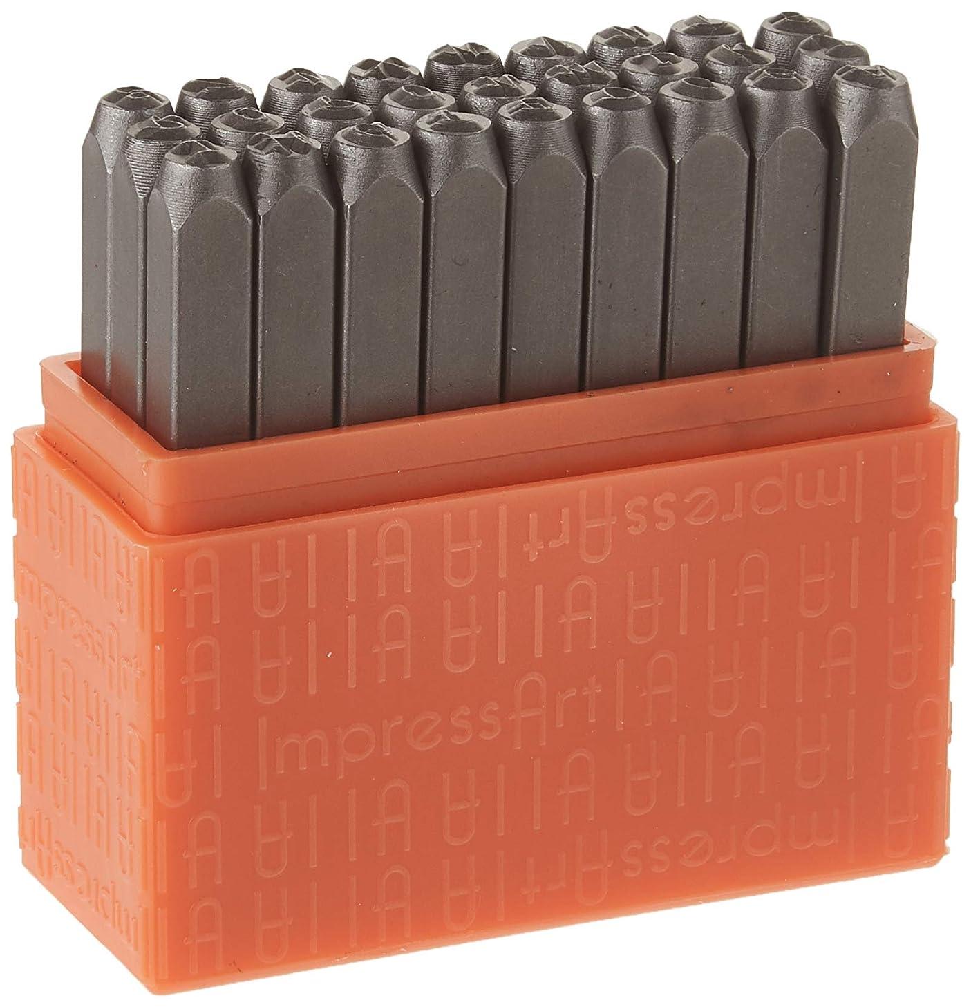 ImpressArt Uppercase Basic Bridgette Metal Letter Stamp Set, Steel Alphabet Punches for Metal Stamping