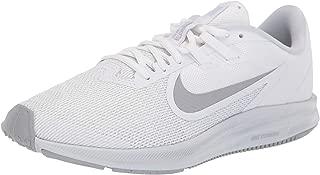 Women's Downshifter 9 Running Shoe, White/Wolf Grey-Pure Platinum, 6 Regular US