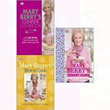 Mary berry's how to cook (paperback) and complete cookbook, cookery course 3 books collection set