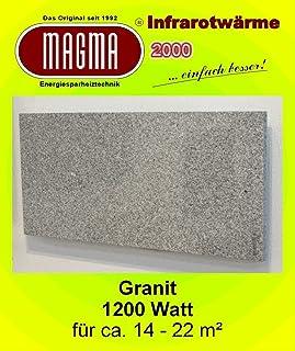 Magma 12.GW.980R - Calefactor de infrarrojos eléctrico (mármol, 1200 W, incluye termostato con 2 luces de control, interruptor y ajuste de temperatura)