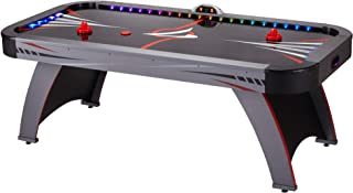 Fat Cat Volt 7' LED Illuminated Air Hockey Table with Dual Motor Action for Faster Play, Automatic Scoring and Integrated Light System That Takes Game Play to The Next Level