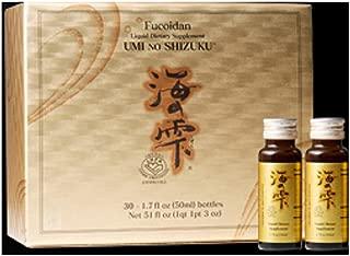 Umi no Shizuku Fucoidan Drink Type Pure Seaweed Extract Enhanced with Agaricus Mushroom Vitamin Complex Optimized Immune Support Health Supplement-30 Liquid Bottles (50ML/Bottle)