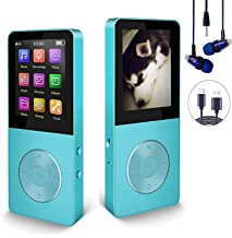 $25 » 16GB MP3 Player, Hotechs Music Player with FM Radio, Recording, HiFi Lossless Sound with Built-in Speaker, Support up to 1...