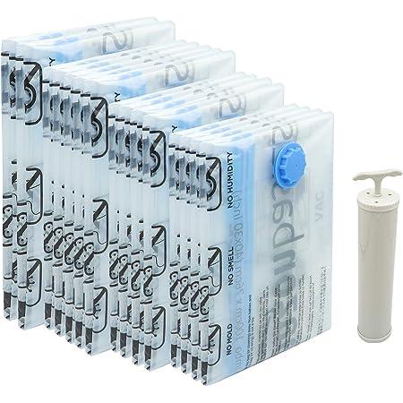 Amazon Basics Vacuum Compression Storage Bags with Hand Pump - 15-Pack (2 X-Jumbo, 5 Jumbo, 4 Large, 4 Medium)