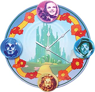 Westland Giftware The Wizard of Oz MDF Wood Wall Clock, 12.5-Inch, Four Friends