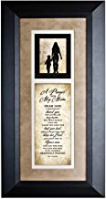 Best Dexsa A Prayer for My Mom Wood Wall Art Frame Plaque   8 inches x 16 inches   Hanger for Hanging   Dear God I Gratefully Thank You for Giving me My Mom James Lawrence Reviews