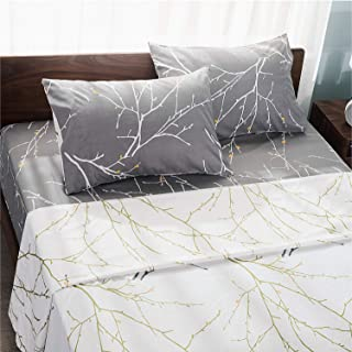 Sweet Home One Flat//Top Sheet /& Two Pillowcase 100/% Cotton 900 TC Leopard Print