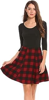 High Waist Plaid A Line Tartan School Skirts for Women