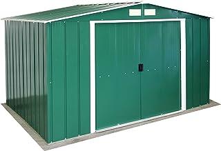 comprar comparacion Duramax Casetas de Metal Ideal para el Jardin. Medidas 2.423 x 3.221 x 1.961 mm. Superficie 7,80 m2 Eco 10X8, Verde