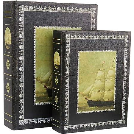 Faux livre box mappemonde 32cm //boîte à bijoux style antique Henricus Hondius