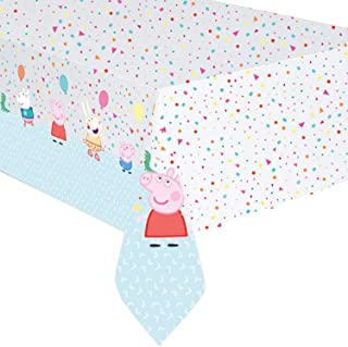 "Peppa Pig Party Table Cover Plastic 54"" x 96"" 1ct"