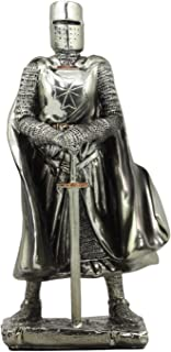Ebros Holy Roman Empire Caped Crusader Knight With Sword Statue 7