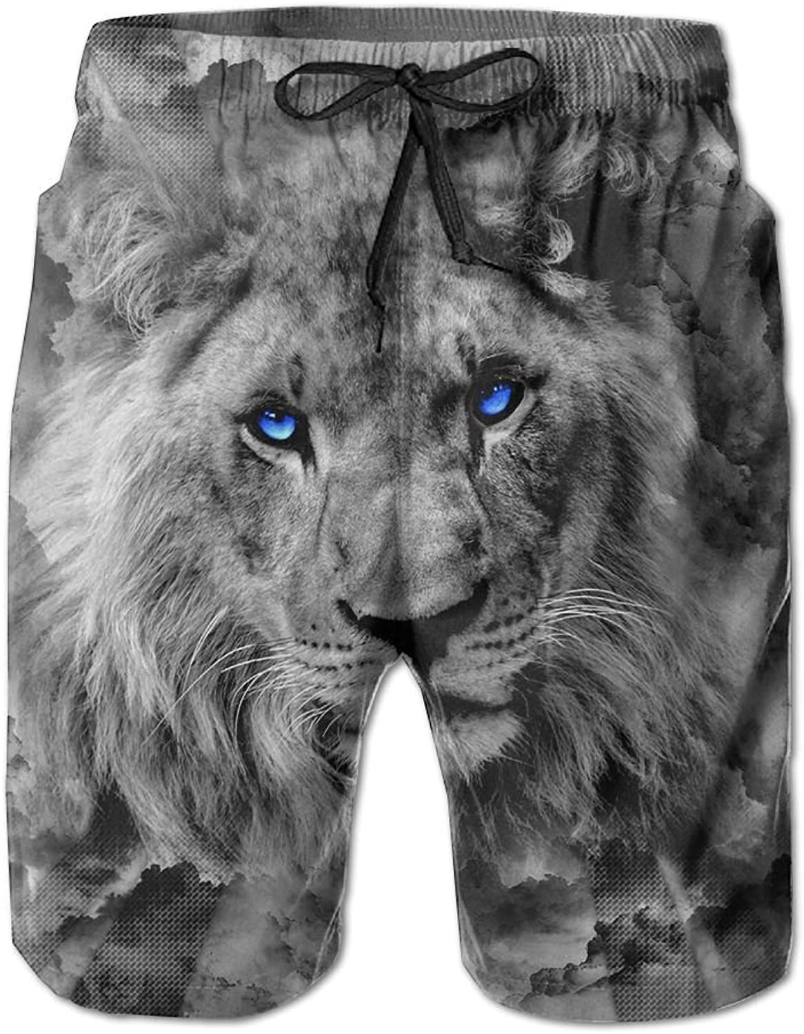 - Tydo Tydo Tydo Quick Dry Beach Shorts Surreal Lion Print Swim Trunks Surf Board Pants With Pockets For Men bbd890