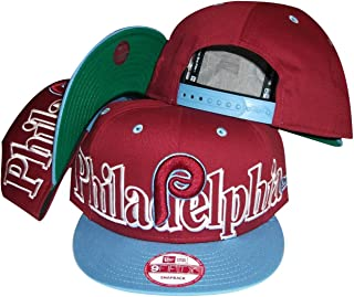 New Era Philadelphia Phillies Big City Punch Plastic Two Tone Snapback Adjustable Plastic Snap Back Hat/Cap