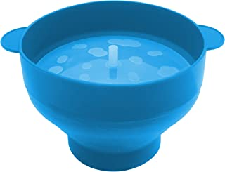 Microwave Popcorn Popper Bowl - Foldable, Easy to Clean, Easy to Use, Easy to Store (Turquoise)