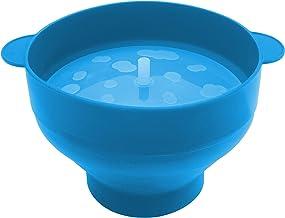وعاء بوبر الميكروويف - قابل للطي، سهل التنظيف، سهل الاستخدام، سهل التخزين (فيروزي)