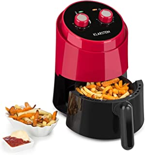 Klarstein Well Air Fry - friteuse à air chaud, friture sans gras, cuire, griller, 1230W, 1,5L capacité totale, protection ...