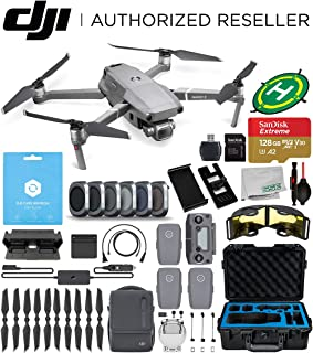 DJI Mavic 2 Pro 2 Drone Quadcopter(#CP.MA.00000019.01) with Fly More Combo, DJI Care Refresh, x3 Batteries, 6pc Filter Kit, Screen Mount, 128GB Extreme Micro SD, Waterproof Hard Case, and More