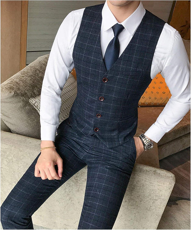 2 Piece Sets Boutique Plaid Formal Groom Wedding Pants Plaid Casual Business Suit Trousers