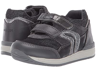Geox Kids Rishon 20 (Toddler) (Black/Charcoal 1) Girls Shoes