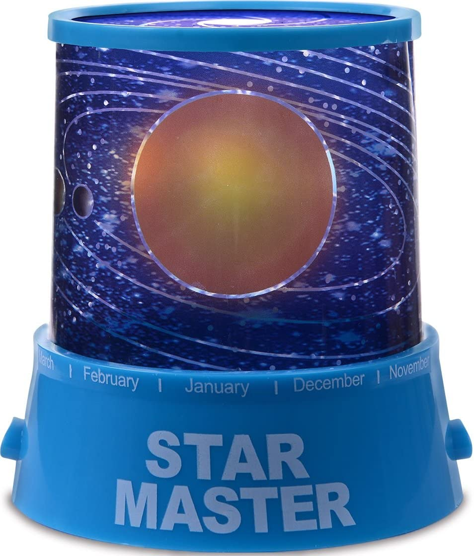 GPCT Star Master Starry Sky Shining Stars [Solar System] LED Projection Bed Side Night Light Lamp. Great Mood [Relaxing] Light for Children Kids Baby Infants Nursery Bedroom & Christmas Gift! (Blue)