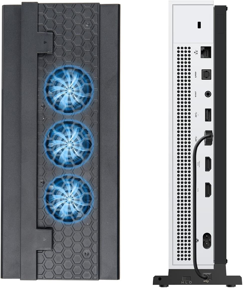 Megadream Xbox One S Vertical Stand with USB Fan famous 3 Adju Cooling Cheap mail order specialty store