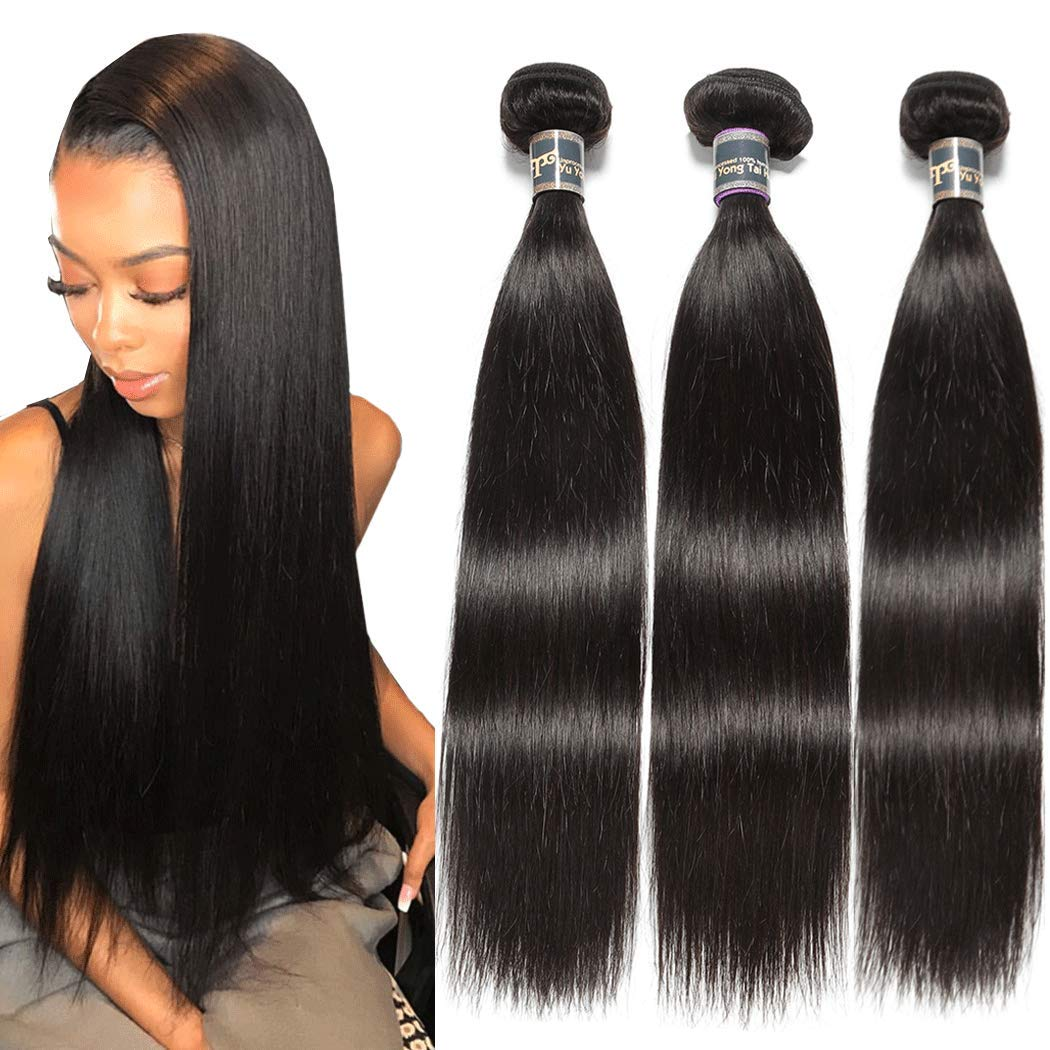Malaysian Virgin Courier shipping free shipping Straight Hair Bundles 18 22 Unproc Inches 9A New mail order 20