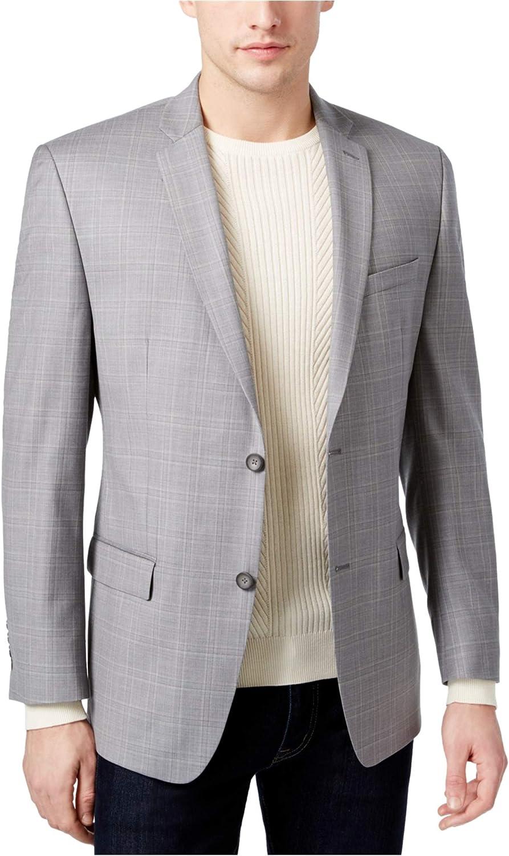 Marc New York Mens Windowpane Two Button Blazer Jacket