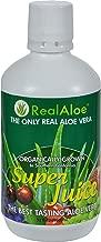 Real Aloe Aloe Vera Super Juice - Organically Grown - No Bitter Taste - 32 fl oz (Pack of 4)