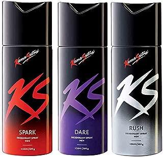 Kama Sutra Deodorant for Men Spark + Dare + Rush (150 ml)