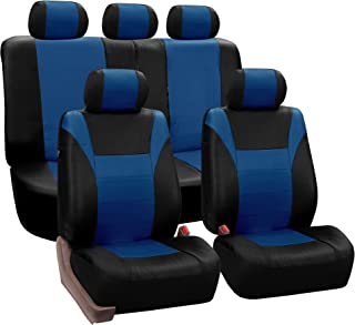Pleasing Amazon Com Blue Leather Seat Covers Seat Covers Alphanode Cool Chair Designs And Ideas Alphanodeonline