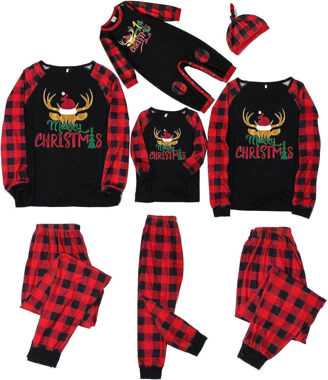 MEDRESPIRIA Nightwear for Women Pajamas Matching Christmas Pajamas Set Button Tank Top with Drawstring Sleepwear Nightwear Pjs Loungewear
