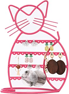 Earring Holder Stand Earring Holder Organizer with B'onus Earring Display Earring Holder in Pink Earrings Holder Cat Shaped