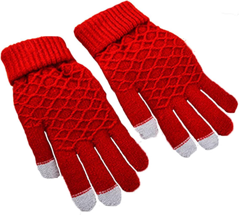 LKXHarleya Winter Touchscreen Mittens Knitted Full Finger Gloves Mittens for Phone