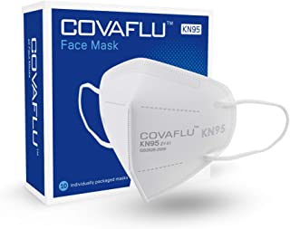 COVAFLU KN95 Face Mask Pack of 10 Fold Flat Face Masks Comfortable Fit