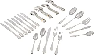 Lenox Gorham Studio Stainless 45 Piece Set-service for 8 & 5 Serving Pieces, Silver - 846855