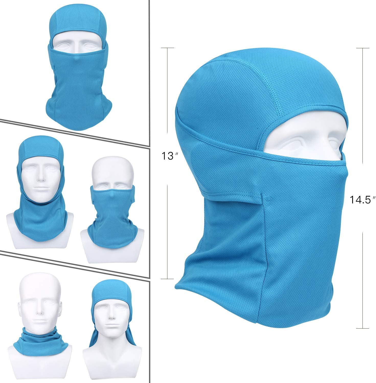 Cycling Motorcycle Outdoor Sports Windproof Mask Adjustable Face Head Warmer for Skiing QINGLONGLIN Balaclava