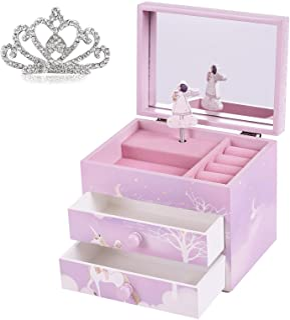 صندوق مجوهرات للأطفال من Cokosing - صندوق مجوهرات للفتيات - صندوق مجوهرات للفتيات - صندوق هدايا - صناديق مجوهرات بالجملة ل...