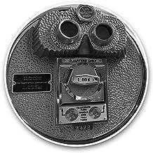 Impresionantes pegatinas de vinilo (juego de 2) 30 cm BW – Rockefeller New York Paisaje divertido calcomanías para portátiles, tabletas, equipaje, reserva de chatarras, neveras, regalo genial #35993