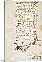 GREATBIGCANVAS Gallery-Wrapped Canvas Codex on The Flight of Birds, by Leonardo da Vinci, 1505-1506. Royal Library, Turin by Leonardo da Vinci 12