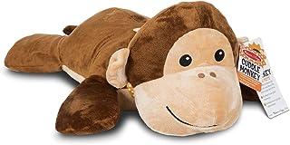 Melissa & Doug 40706 Puppets Wildlife Friends Cuddle Monkey Jumbo Plush Stuffed Animal (Reusable Activity Card, Nametag), ...