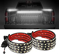 AUTUNEER 60Inch LED Truck Bed Lights, 2PCS White Truck Bed LED Strip Light Kit, Waterproof Truck Bed Lighting Bar Switch Fuse Splitter Cable for RV SUV Vans Cargo Boats, Auto Lights Strip