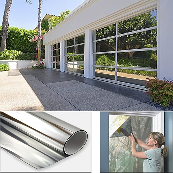 Sugo 2FT X 12FT Premium One Way Mirror Privacy Reflection Window Tint Film Energy Saver 5 VLT