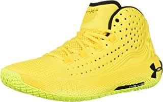 Men's HOVR Havoc 2 Basketball Shoe, Taxi (700)/High-Vis Yellow, 10